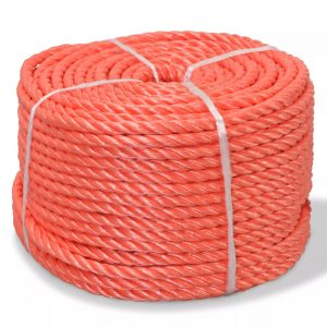 vidaXL snoet reb i polypropylen 12 mm 100 m orange