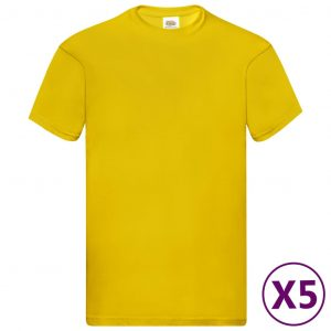 Fruit of the Loom originale T-shirts 5 stk. str. S bomuld gul